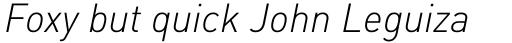FF DIN Pro Light Italic sample