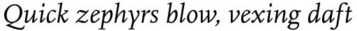 FF Scala Pro Italic sample