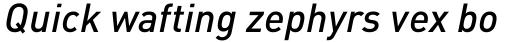 FF DIN Pro Medium Italic sample