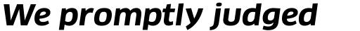 FF Clan Pro Wide Bold Italic sample