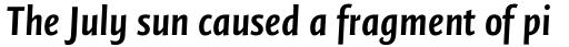 FF Quadraat Sans OT Cond Bold Italic sample