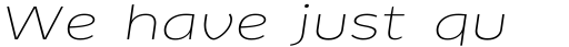 FF Clan Pro Extd Thin Italic sample