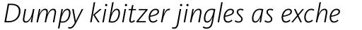 FF Kievit OT Light Italic sample
