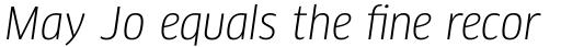 FF Clan Pro Narrow Book Italic sample