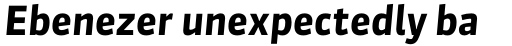 FF Sanuk OT Bold Italic sample