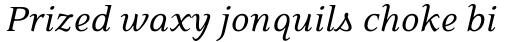 Eidetic Neo Italic sample