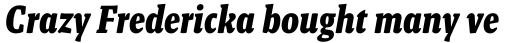 Malaga Narrow Bold Italic sample