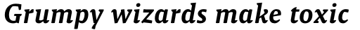Malaga Medium Italic sample