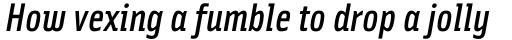 Solex Medium Italic sample