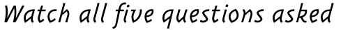 Triplex Italic Light sample
