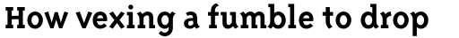 Triplex Serif Bold sample