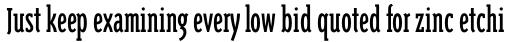Triplex Condensed Serif sample