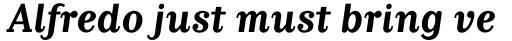 Matrix II Bold Italic sample