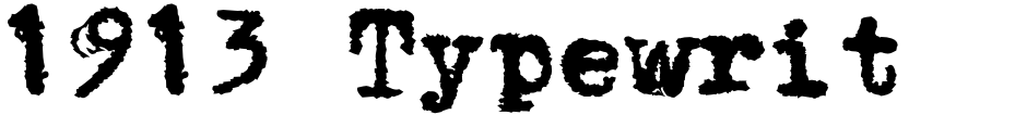 Click to view 1913 Typewriter Carbon font, character set and sample text