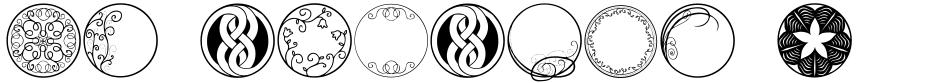 Click to view DB Circles-Frilly font, character set and sample text