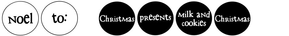 Click to view DB Circles - Christmas font, character set and sample text
