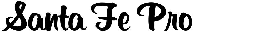 Click to view Santa Fe Pro font, character set and sample text