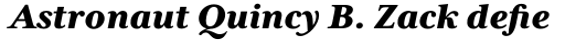 Mrs Eaves XL Serif Nar Heavy Italic sample