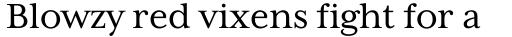 Mrs Eaves XL Serif  sample
