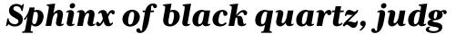 Mrs Eaves XL Serif Heavy Italic sample
