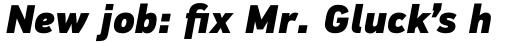 PF DIN Text Pro ExtraBlack Italic sample
