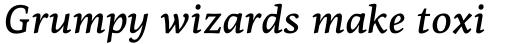 PF Centro Serif Pro Medium Italic sample