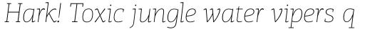 PF Centro Slab Pro ExtraThin Italic sample