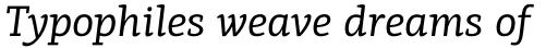 PF Centro Slab Pro Italic sample