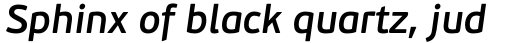 PF Beau Sans Pro SemiBold Italic sample