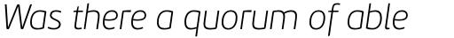 PF Beau Sans Pro Thin Italic sample