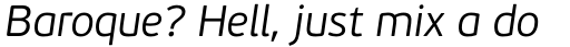 PF Beau Sans Pro Light Italic sample