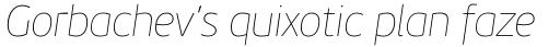 PF Beau Sans Pro ExtraThin Italic sample