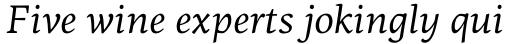 PF Centro Serif Pro Italic sample