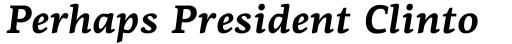PF Centro Serif Pro Bold Italic sample