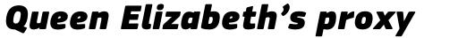 PF Square Sans Pro ExtraBlack Italic sample