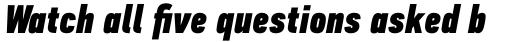 PF DIN Text Comp Pro ExtraBlack Italic sample
