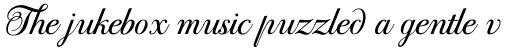 PF Bodoni Script Pro sample