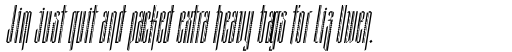 Grant Deco Italic sample