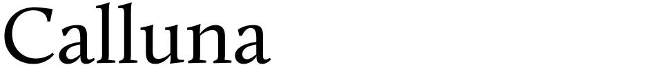 Click to view Calluna font, character set and sample text