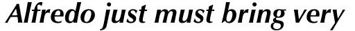 Zapf Humanist 601 Bold Italic sample