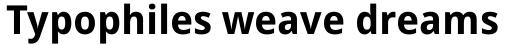 Droid Sans Pro Bold sample
