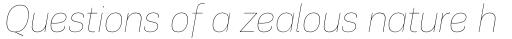 PF Encore Sans Pro UltraThin Italic sample