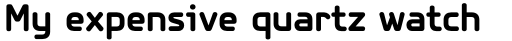 PF Isotext Pro Bold sample