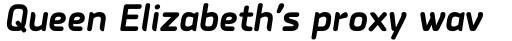 PF Isotext Pro Bold Italic sample