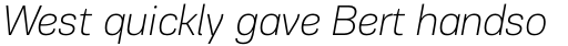 PF Encore Sans Pro Thin Italic sample