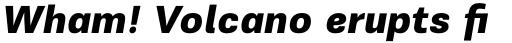 PF Encore Sans Pro Black Italic sample