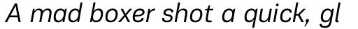 PF Encore Sans Pro Book Italic sample