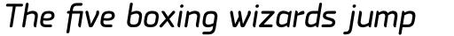 PF Isotext Pro Italic sample