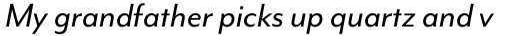 Mr Eaves Mod Reg Italic sample