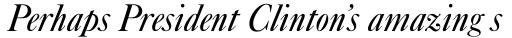 Caslon Italic sample